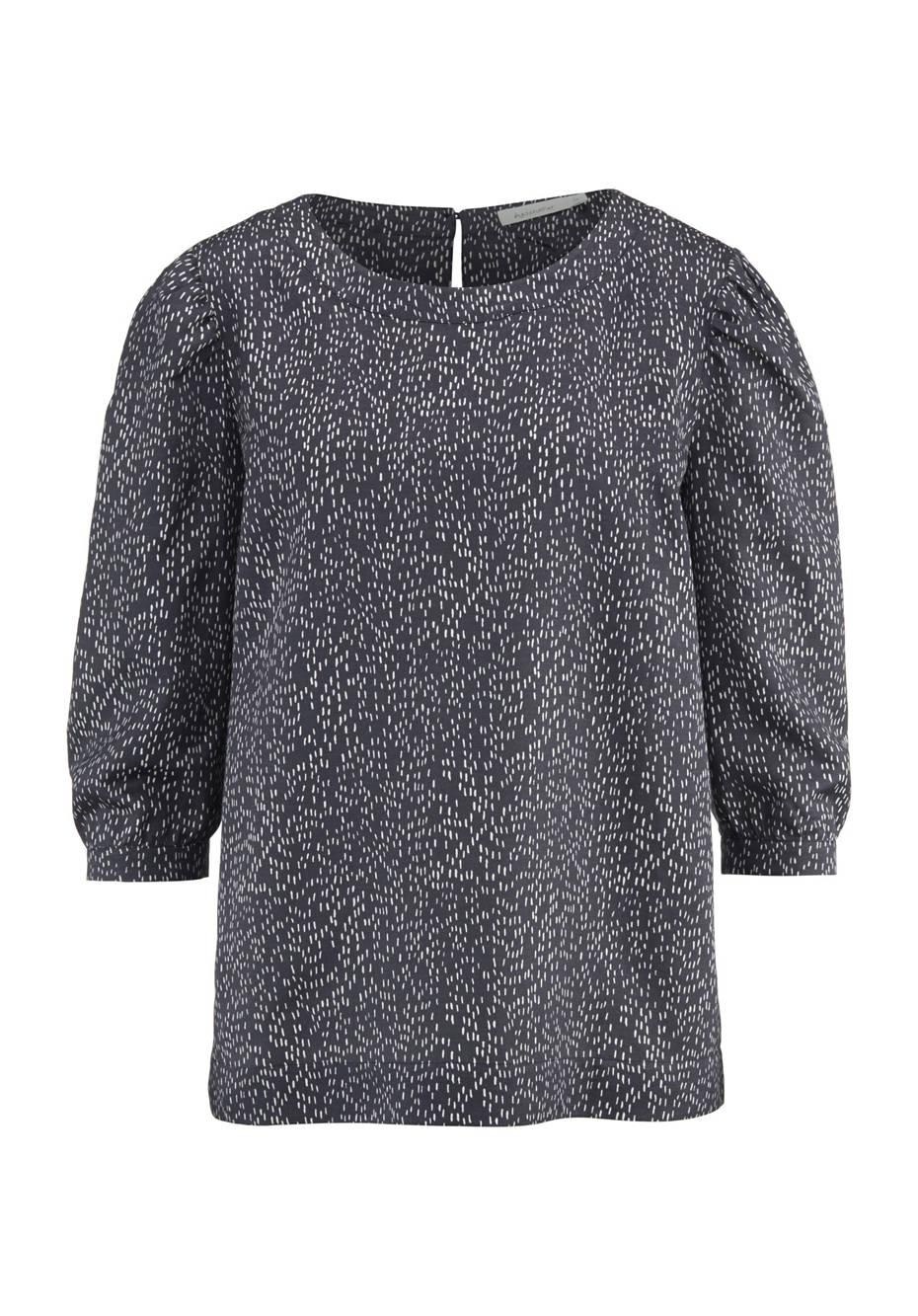 Schlupf Bluse aus Bio-Baumwolle mit Seide und Hanf
