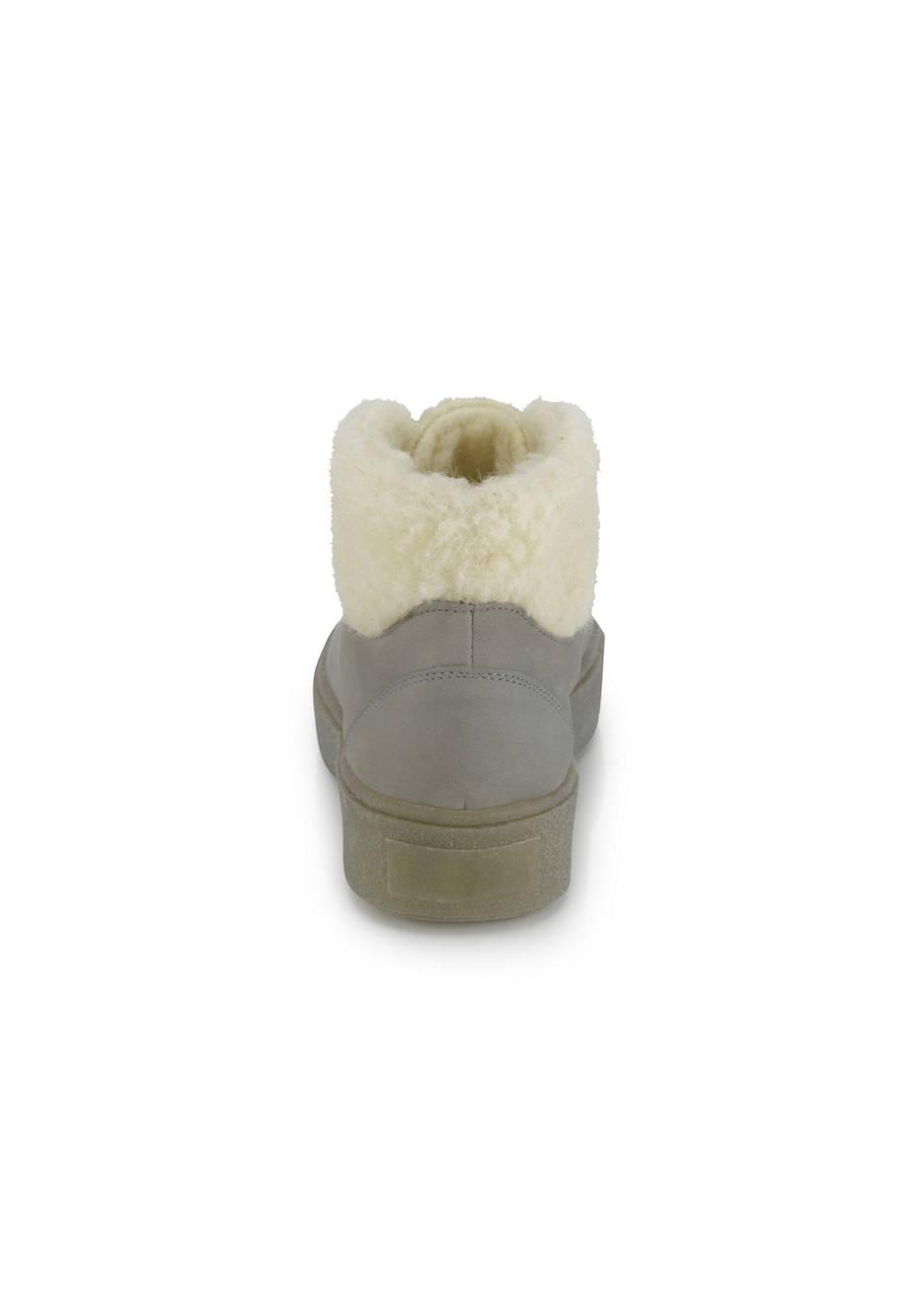 Schnürstiefelette aus chromfrei gegerbtem Leder