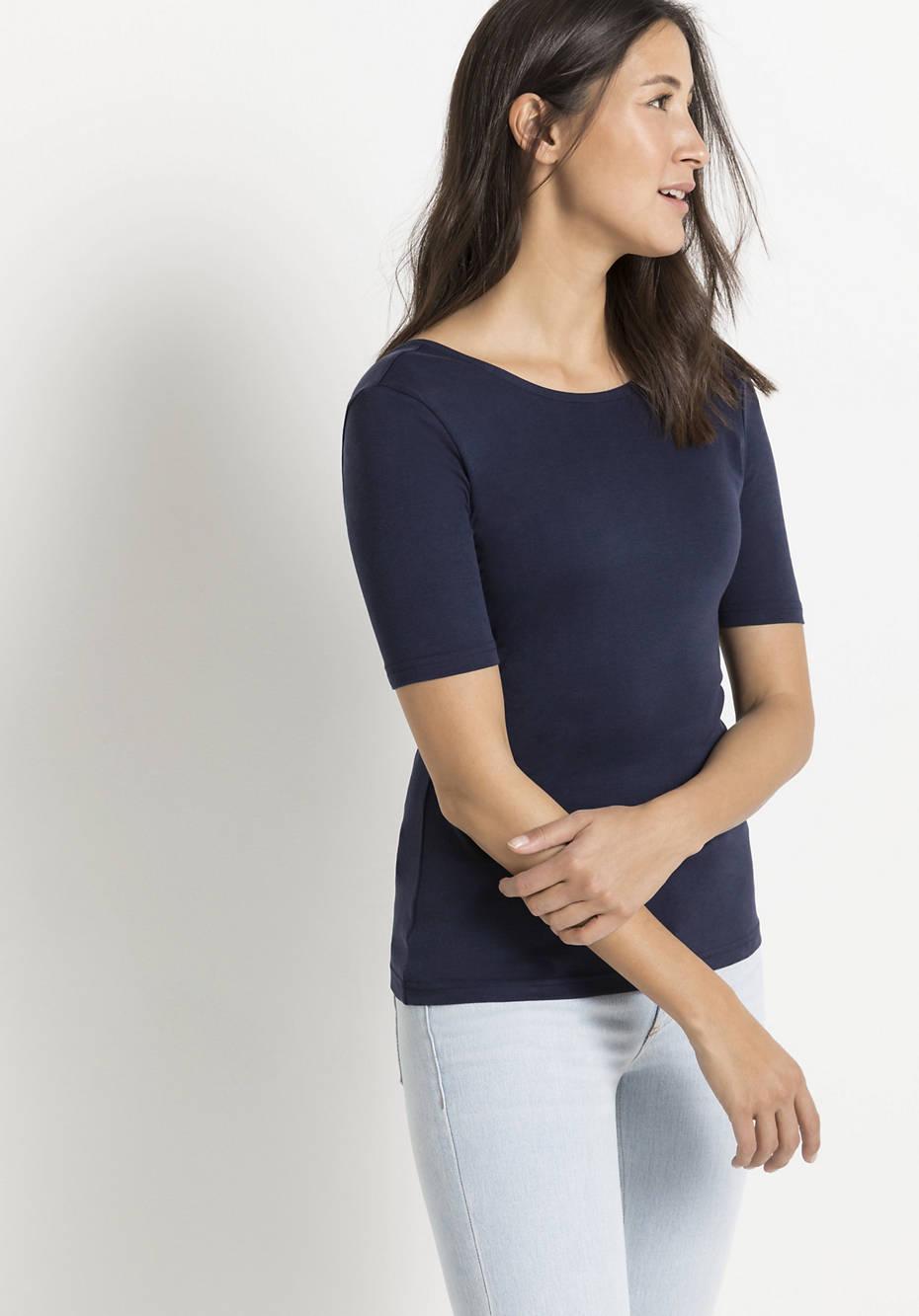 Seiden-Shirt mit Bio-Baumwolle