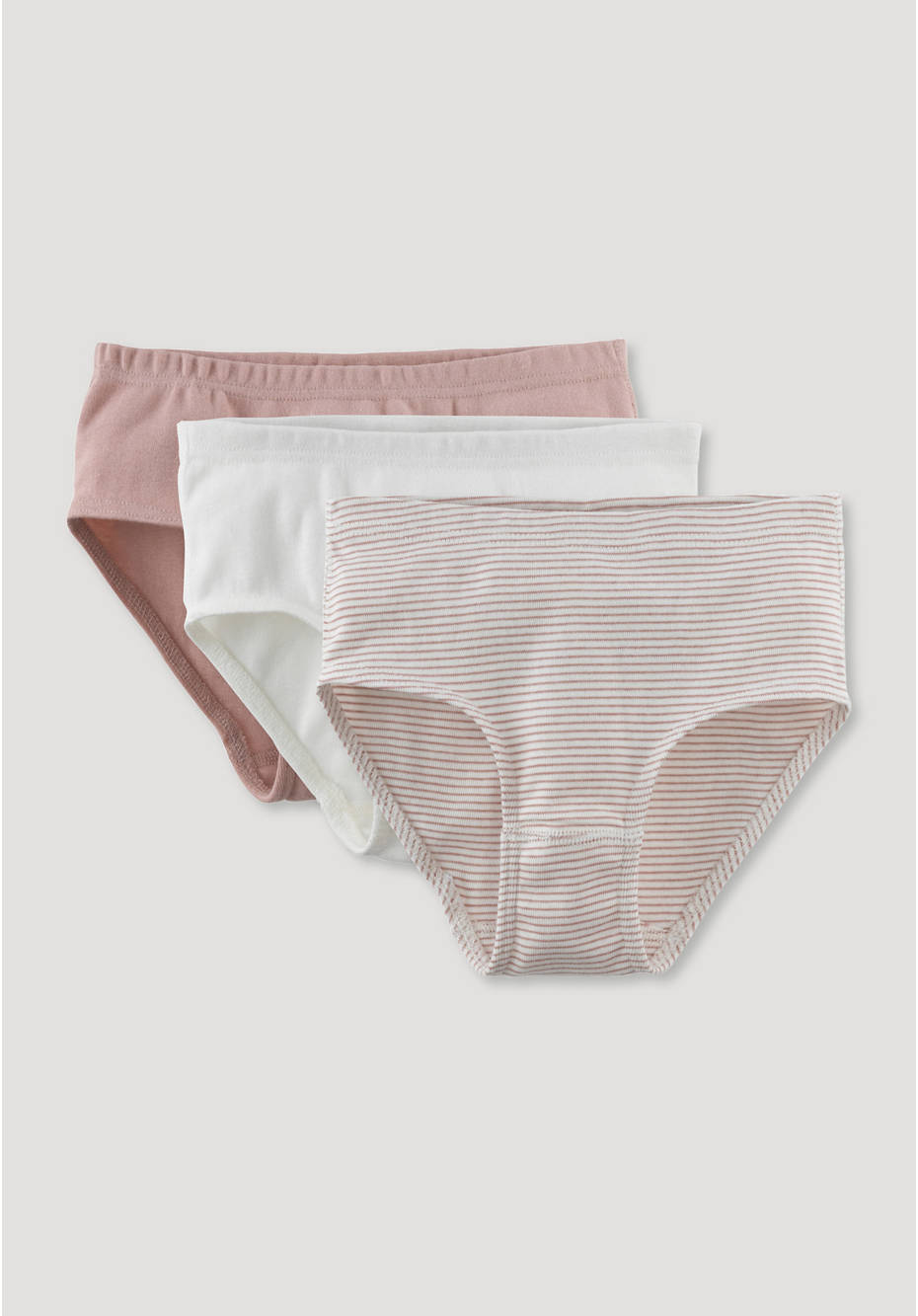 Set of 3 briefs made from pure organic cotton