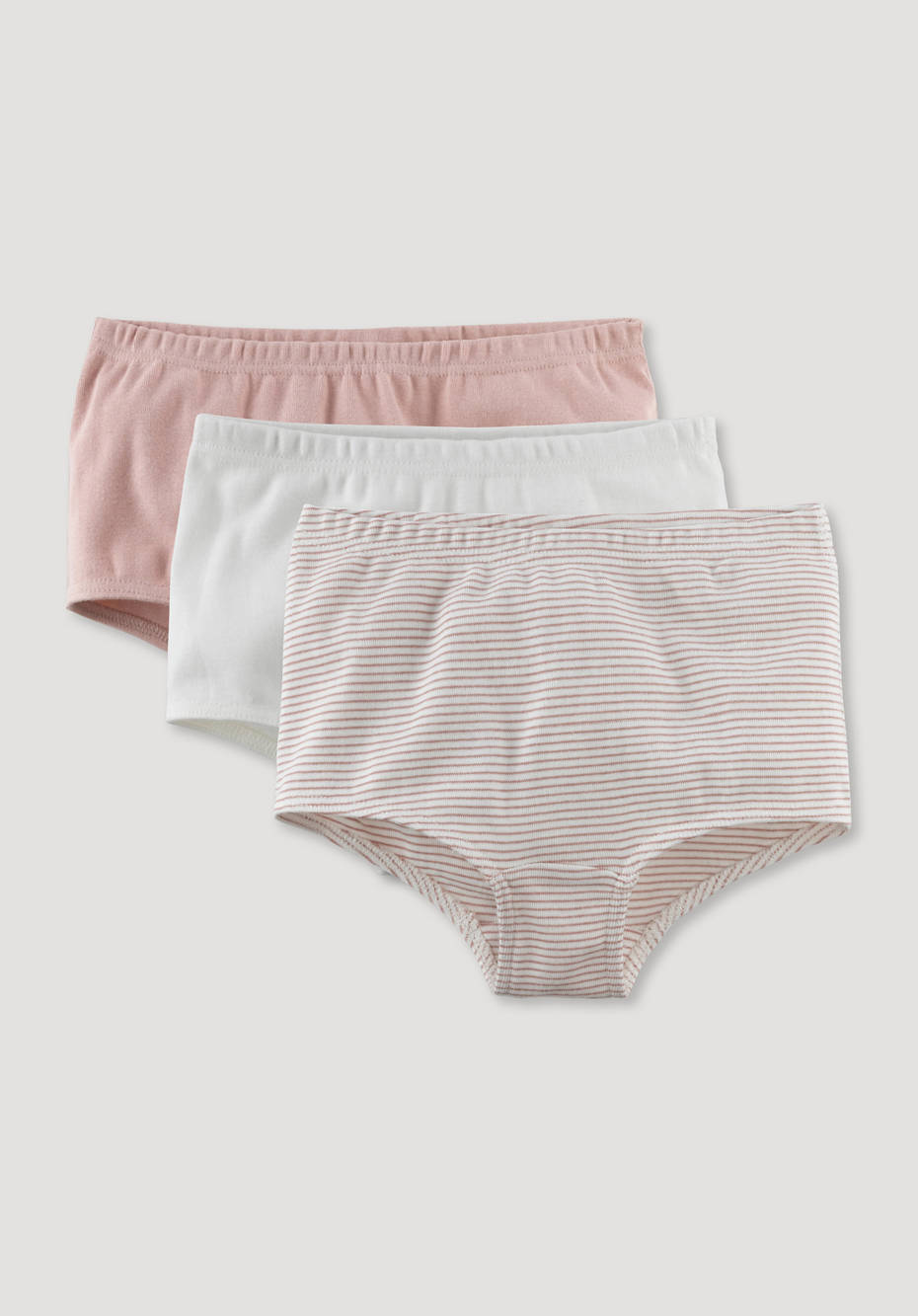 Set of 3 panties made from pure organic cotton