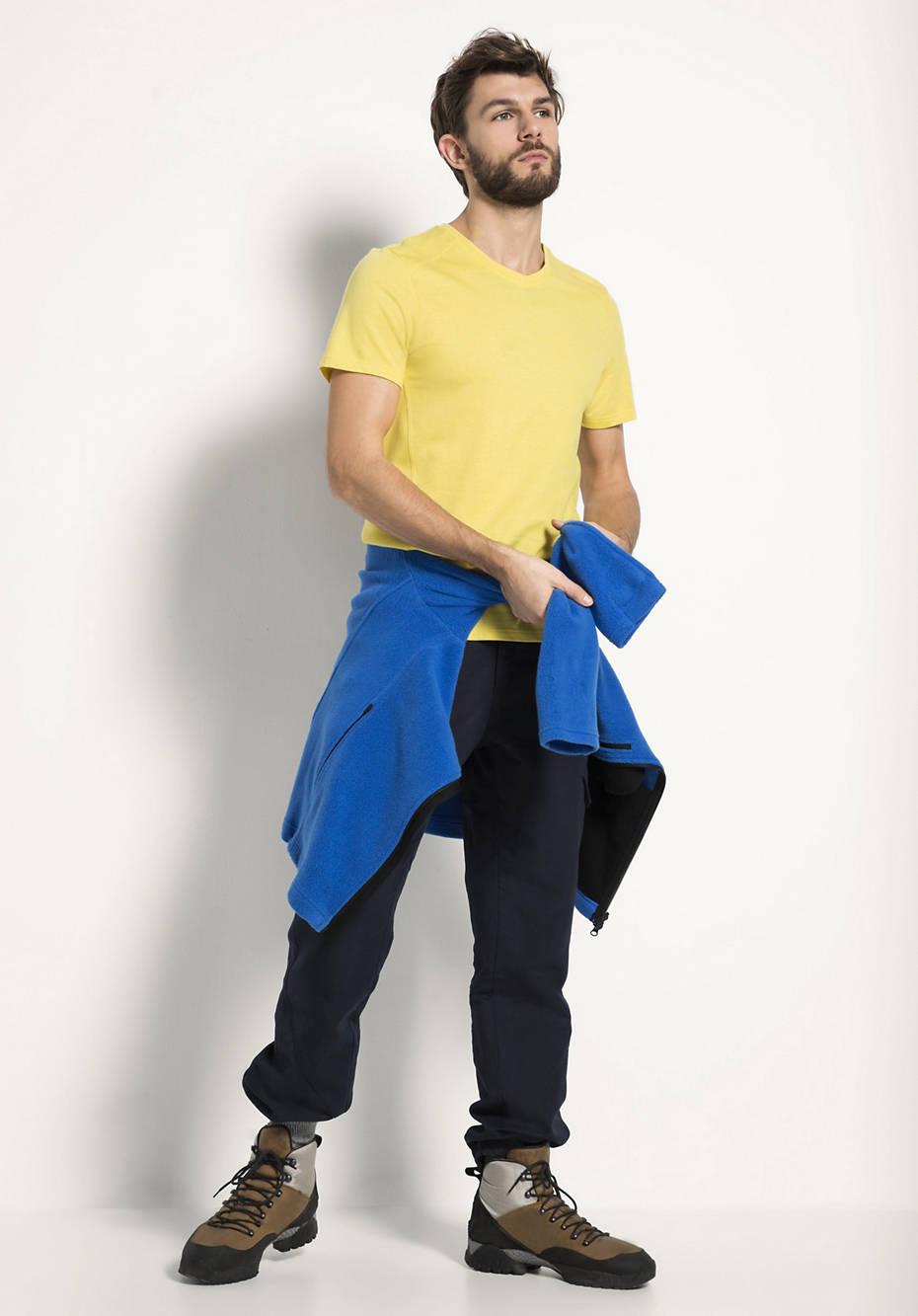 Shirt aus Bio-Baumwolle mit Bio-Merinowolle