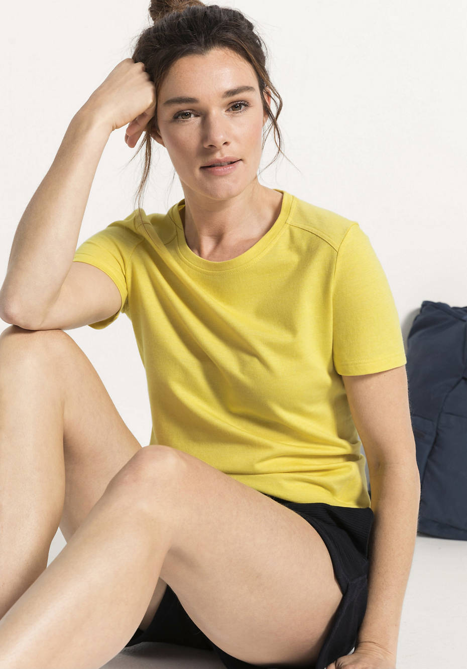Shirt aus Bio-Baumwolle mit Bio-Schurwolle