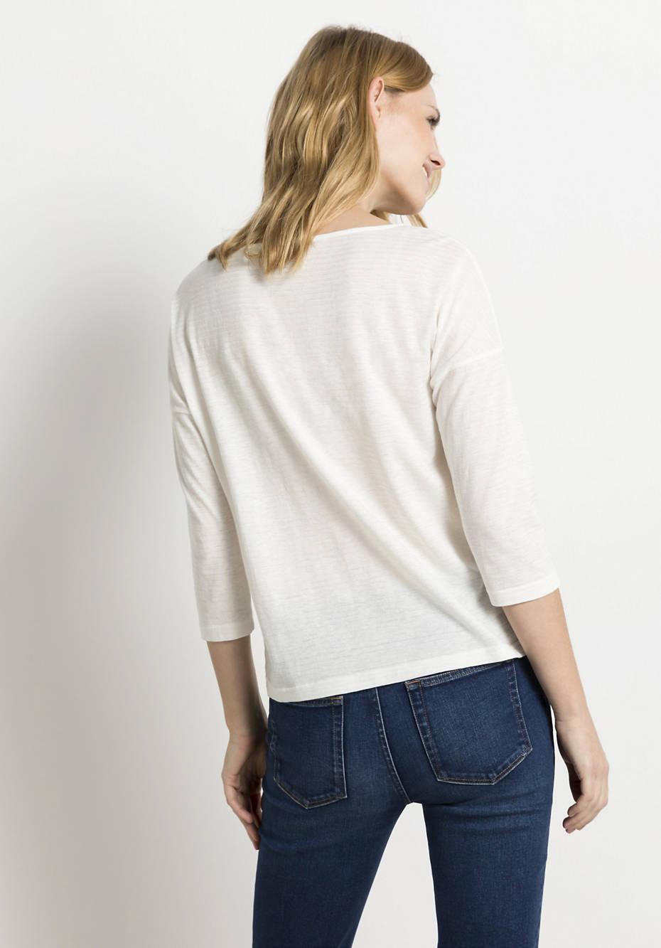 Shirt aus Bio-Baumwolle mit Hanf