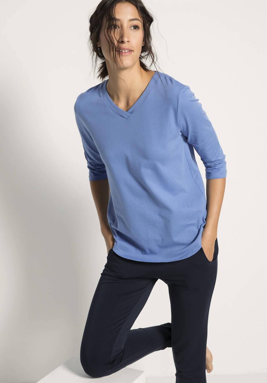 Shirt aus Bio-Baumwolle mit Kapok