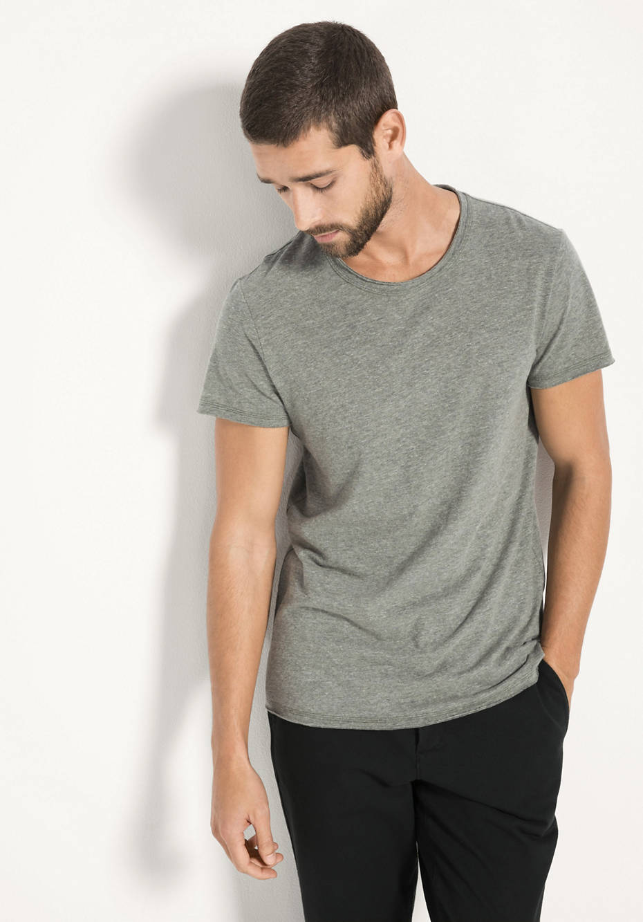 Shirt aus Bio-Baumwolle mit Leinen