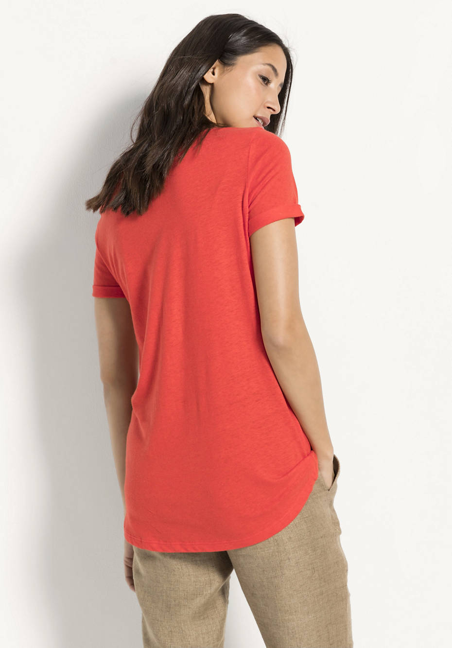 Shirt aus Bio-Leinen mit Bio-Baumwolle