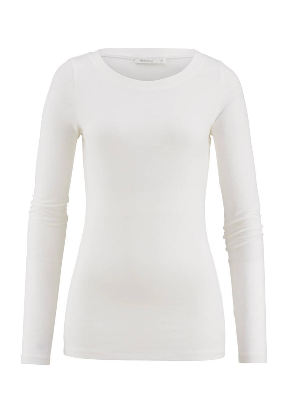 Shirt aus Modal mit Schurwolle und Elasthan