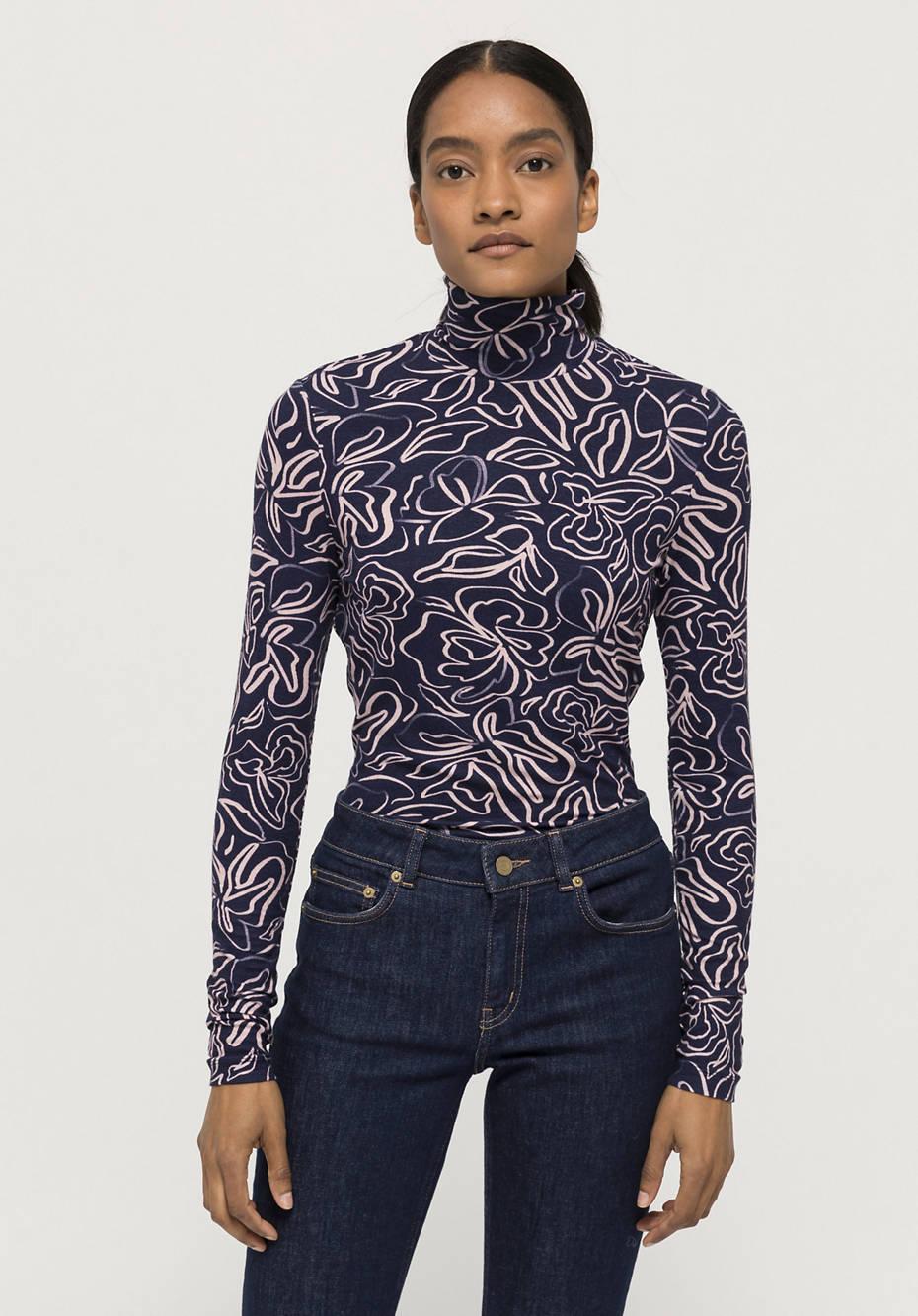 Shirt aus Tencel™ Modal mit Schurwolle