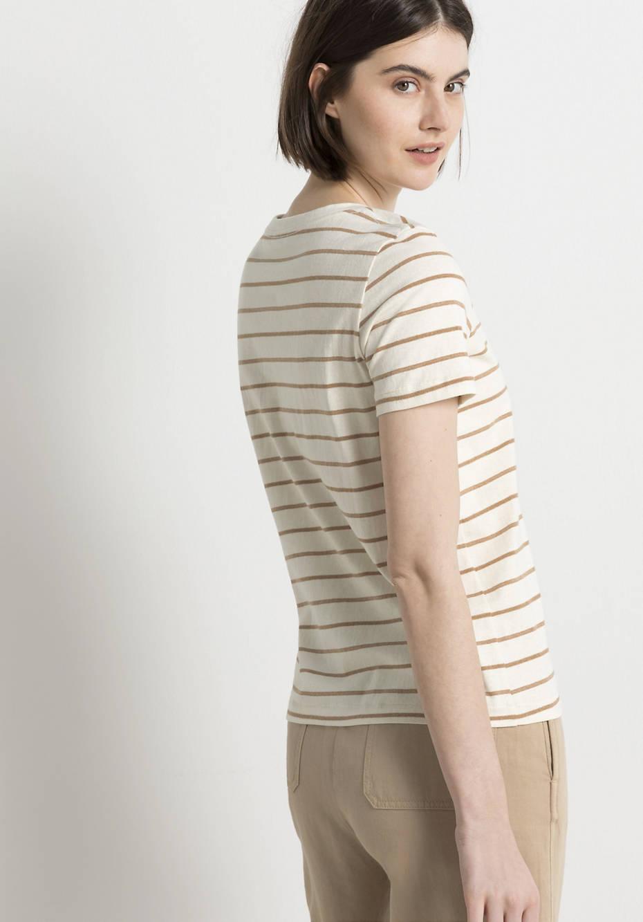 Shirt aus farbig gewachsener Bio-Baumwolle