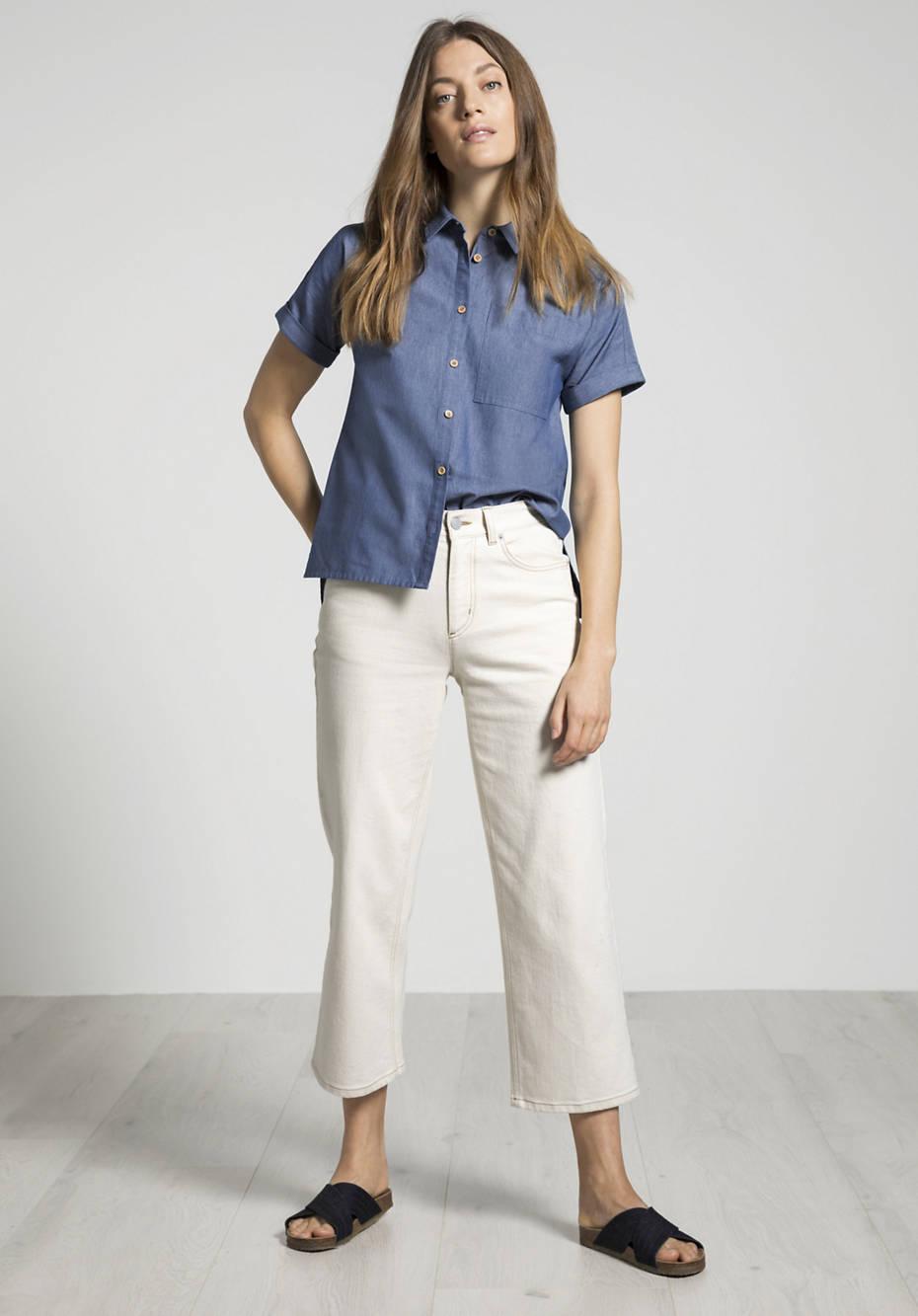 Shirt blouse made of banana fibers with organic cotton