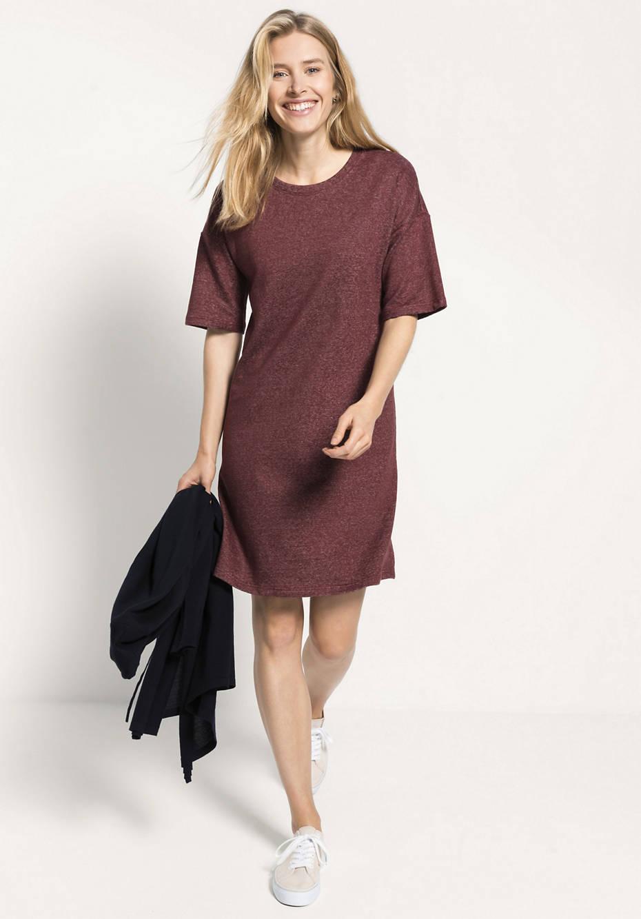 Shirtkleid aus Leinen mit Bio-Baumwolle