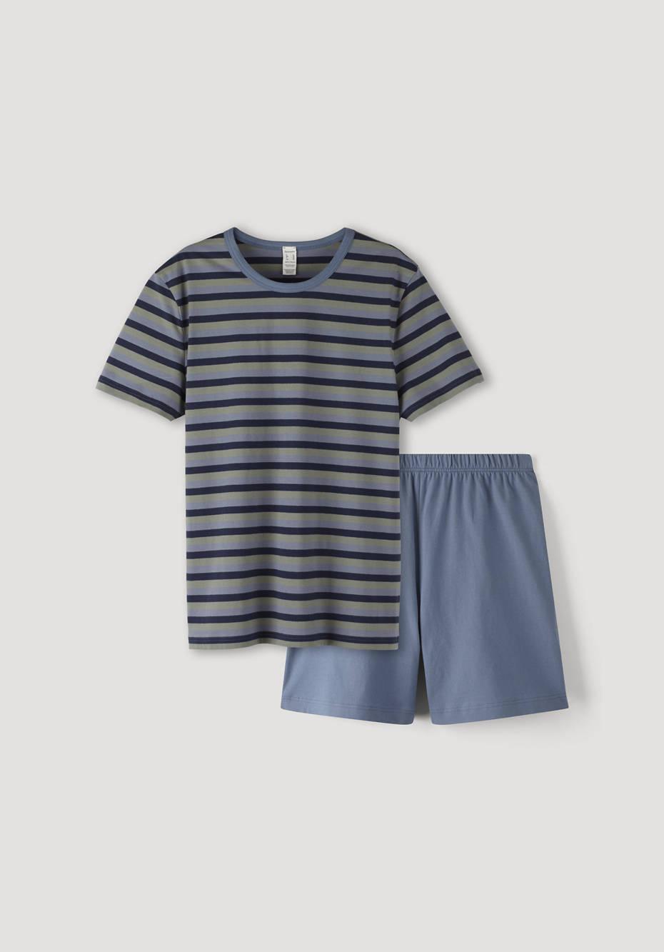 Short pajamas made from pure organic cotton