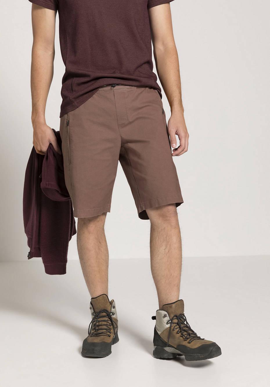Shorts aus Bio-Baumwolle mit Hanf