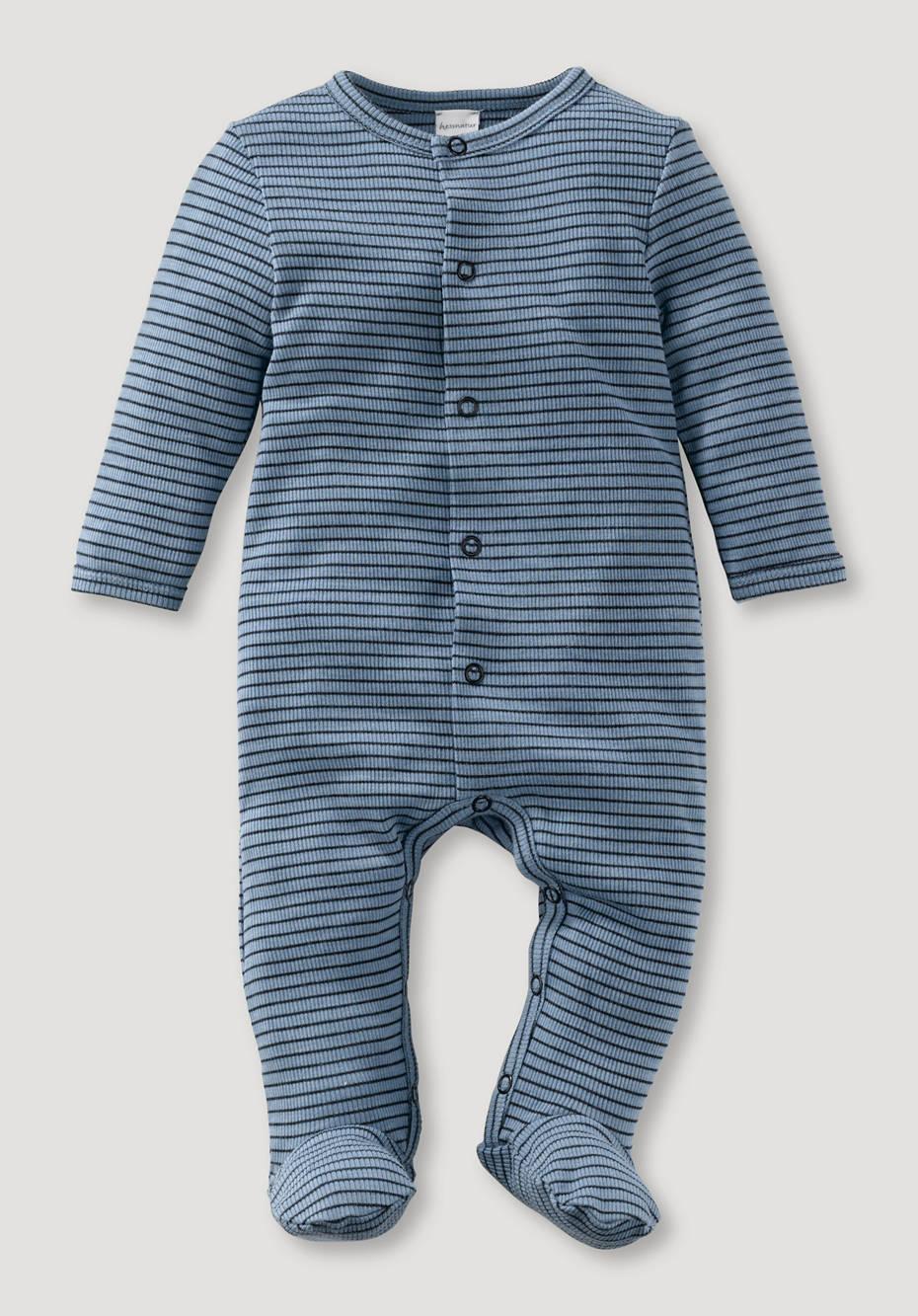 Sleep overall made of organic merino wool and silk