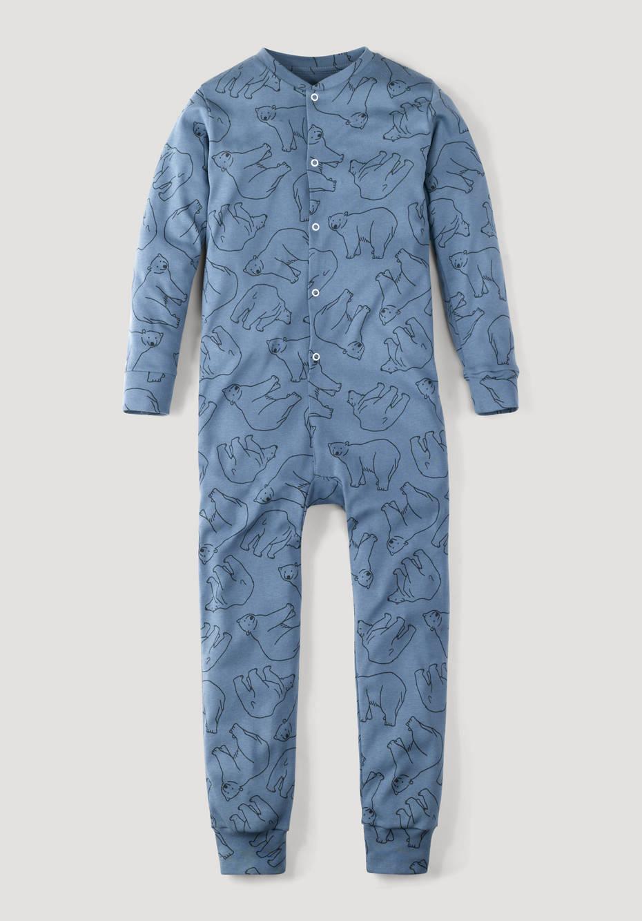 Sleep overall made of pure organic cotton