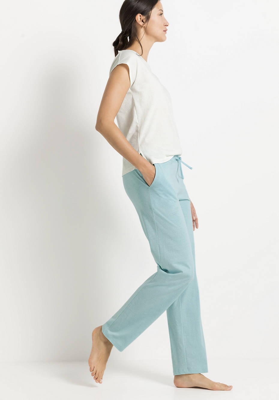 Sleep trousers made of organic cotton with linen