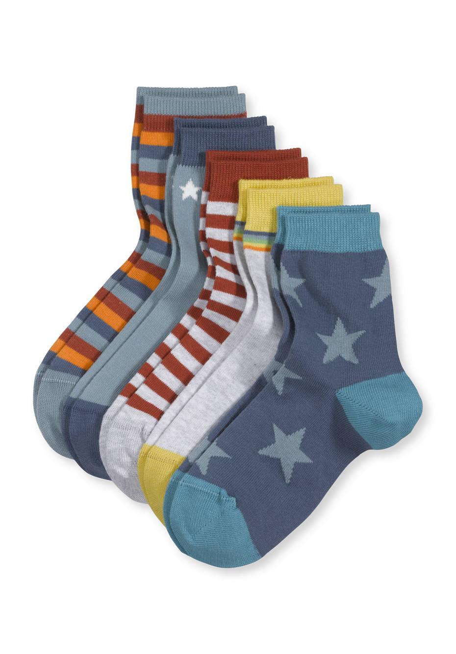 Socke im 5er-Pack aus Bio-Baumwolle