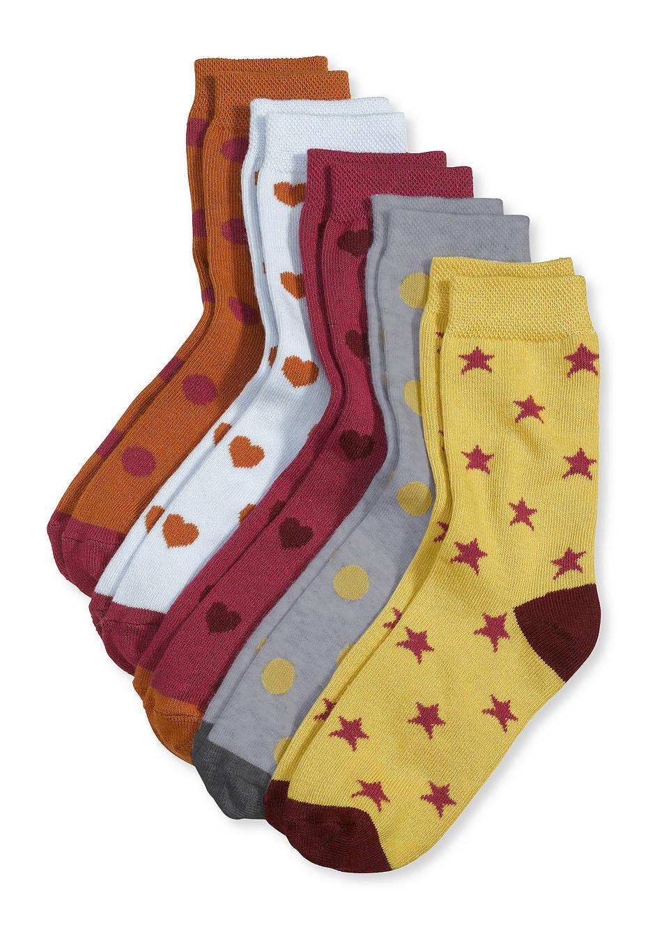 Socke im 5er-Set aus Bio-Baumwolle