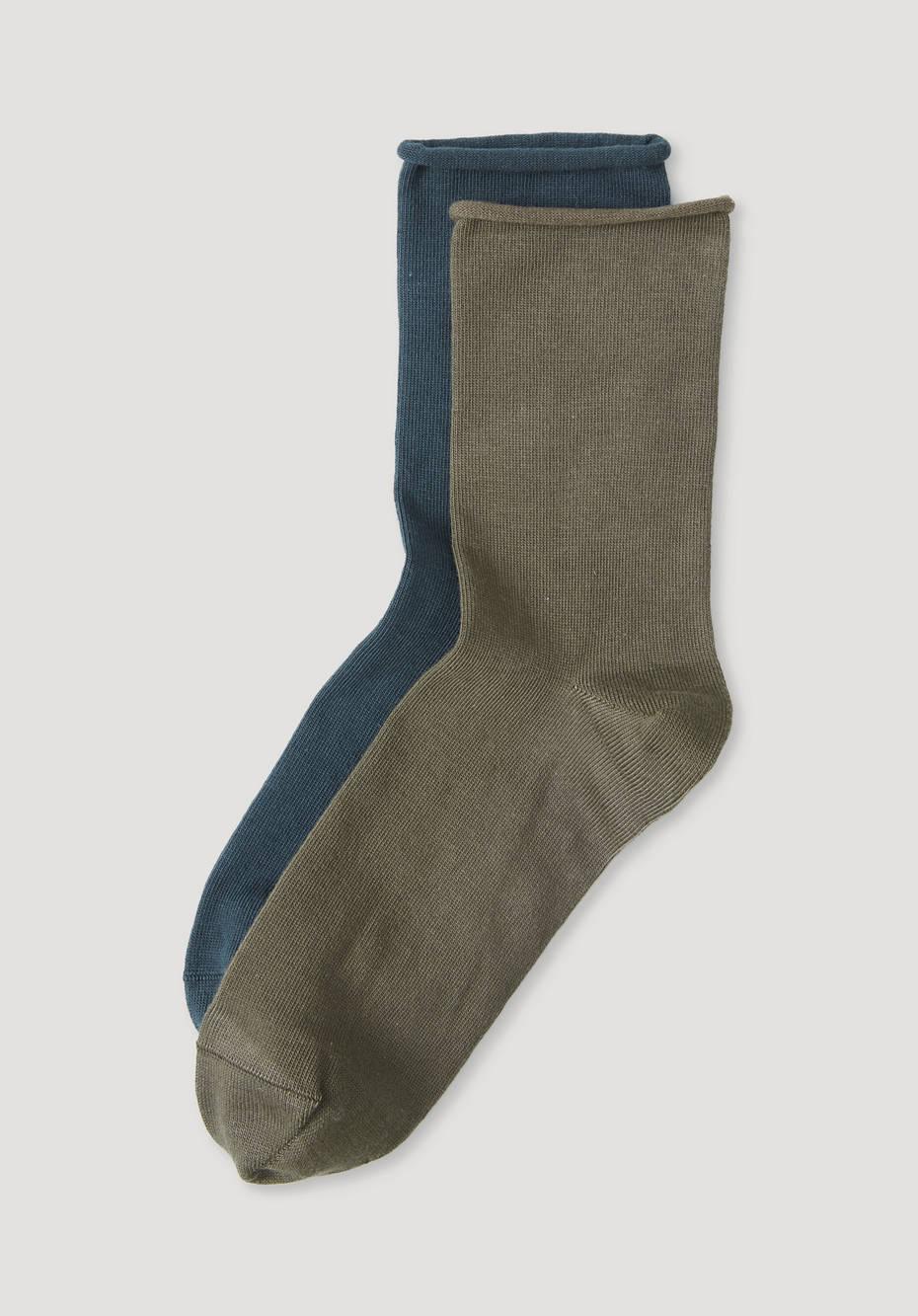 Socken im 2er-Set aus Bio-Baumwolle