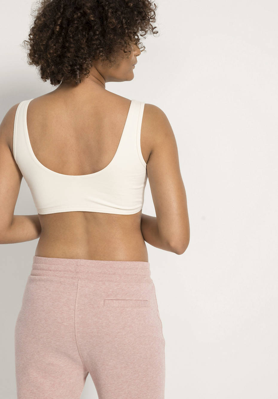 Soft bustier made of organic cotton