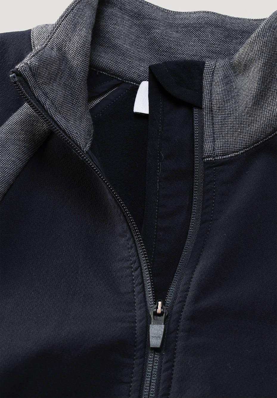 Softshell-Hybridjacke aus Bio-Baumwolle mit Bio-Merinowolle