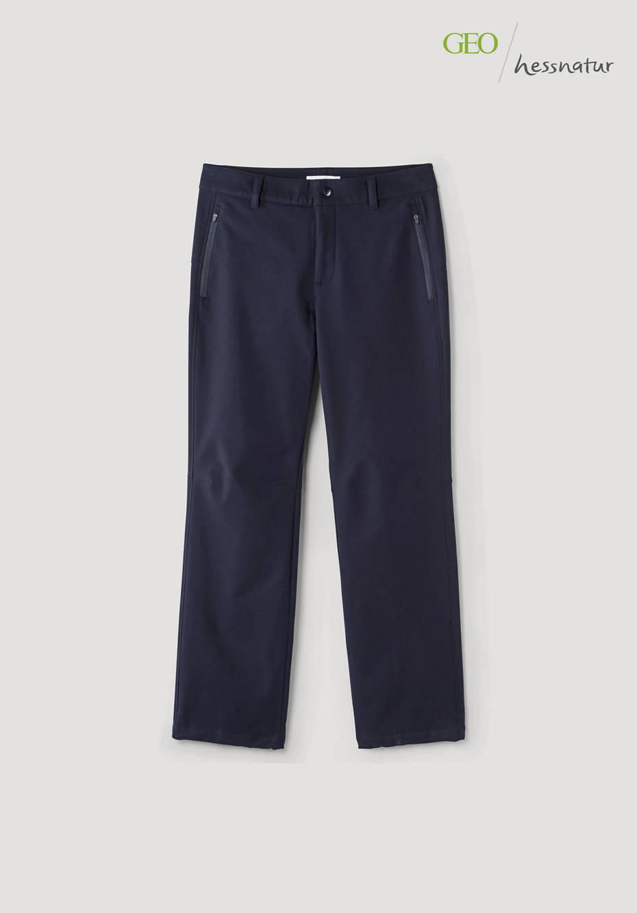 Softshell pants made of organic cotton