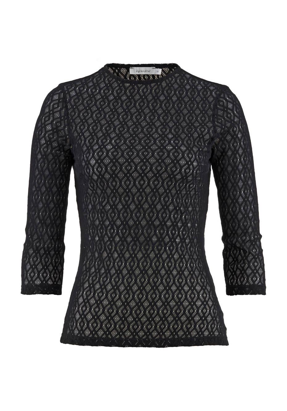 Spitzen-Shirt aus reiner Bio-Baumwolle