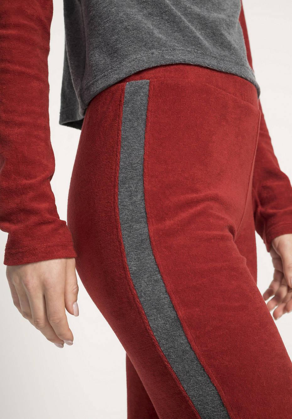 Sportliche Frottee-Hose aus reiner Bio-Baumwolle