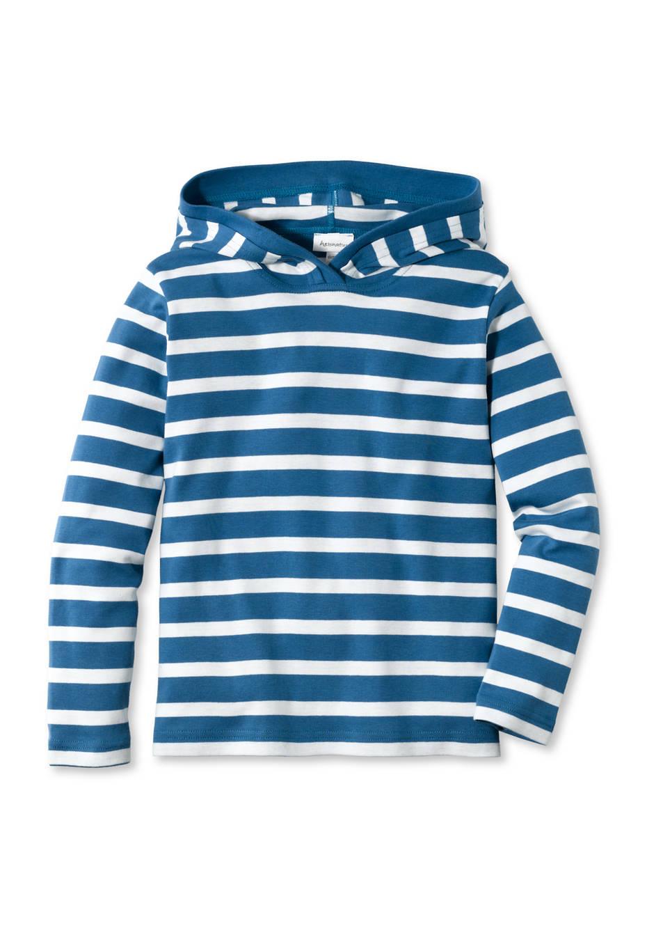 Streifen-Shirt aus reiner Bio-Baumwolle