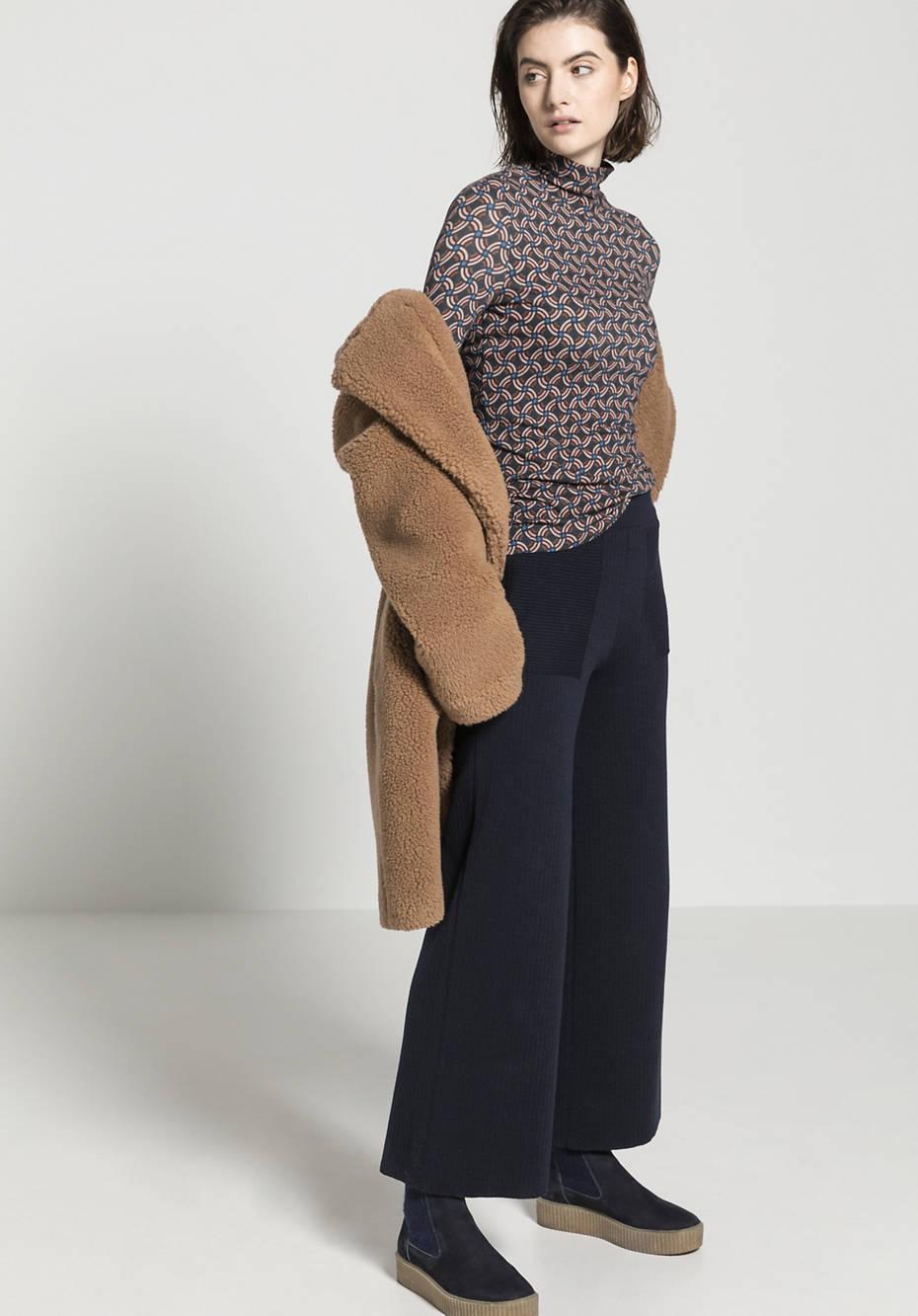 Strick-Culotte aus Bio-Baumwolle und Bio-Schurwolle