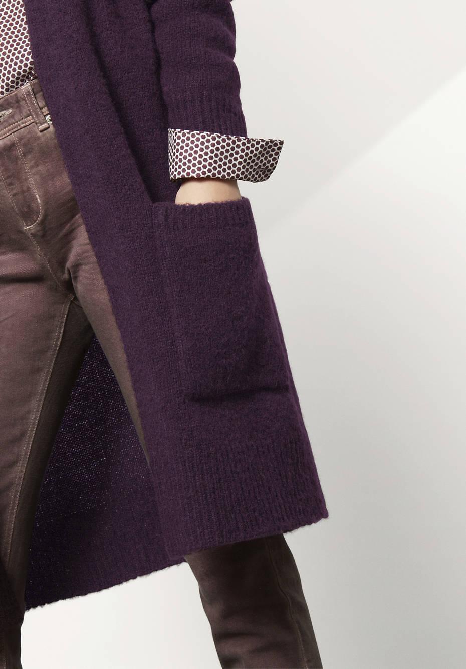 Strickjacke aus Alpaka mit Mohair und Seide