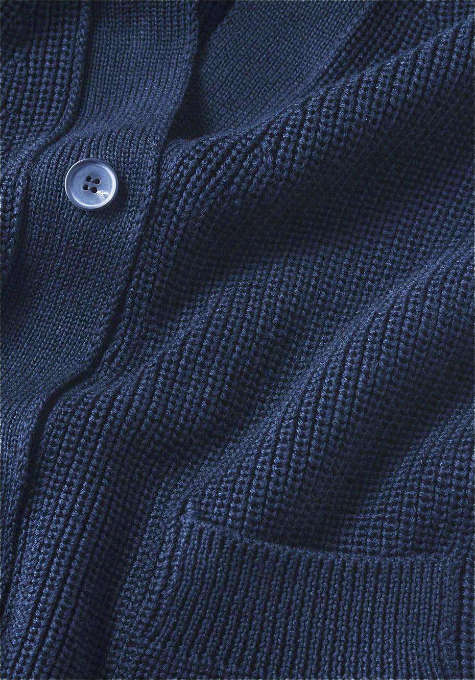 Strickjacke aus Bio-Baumwolle und Bio-Schurwolle