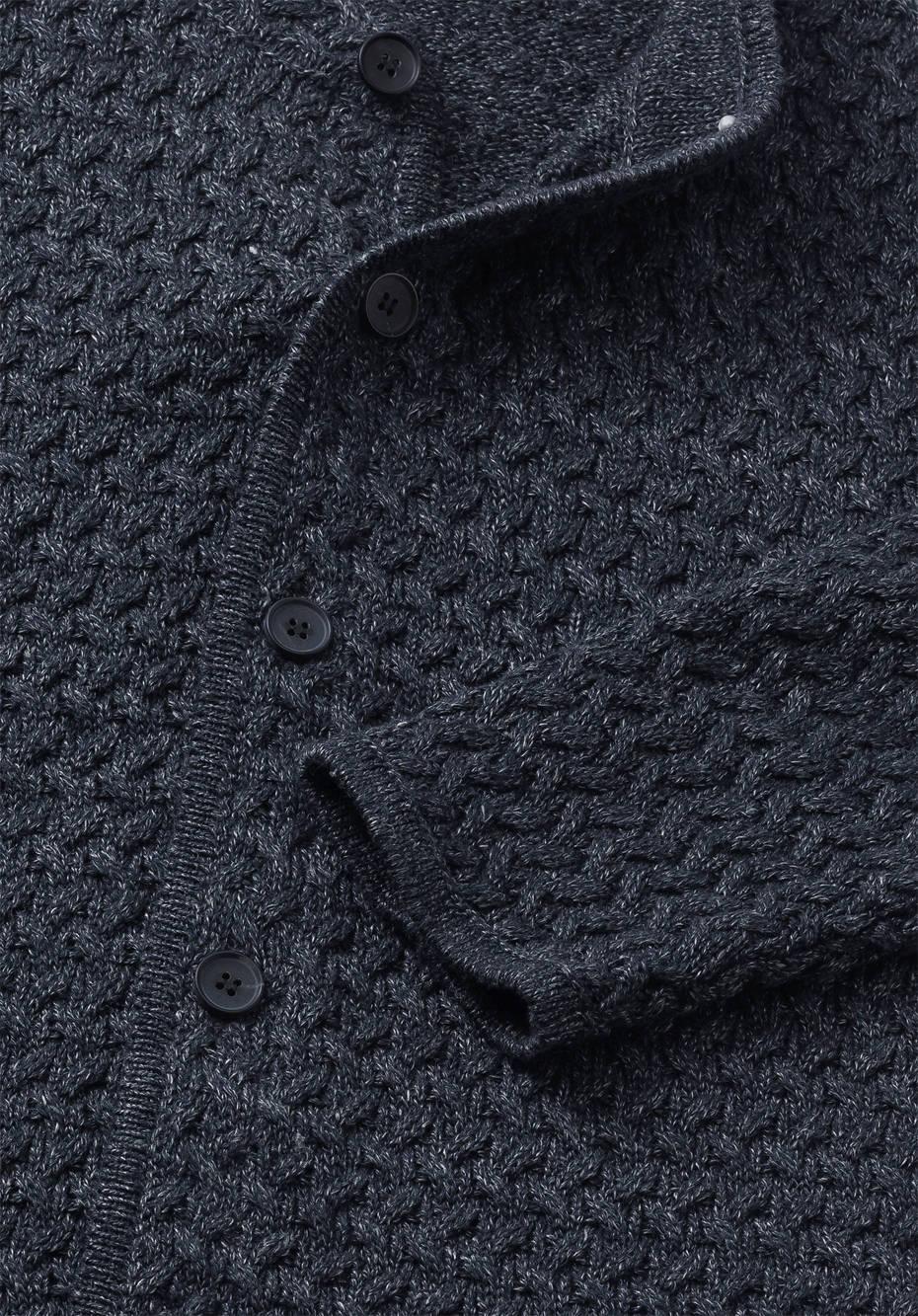 Strickjacke aus Leinen mit Schurwolle