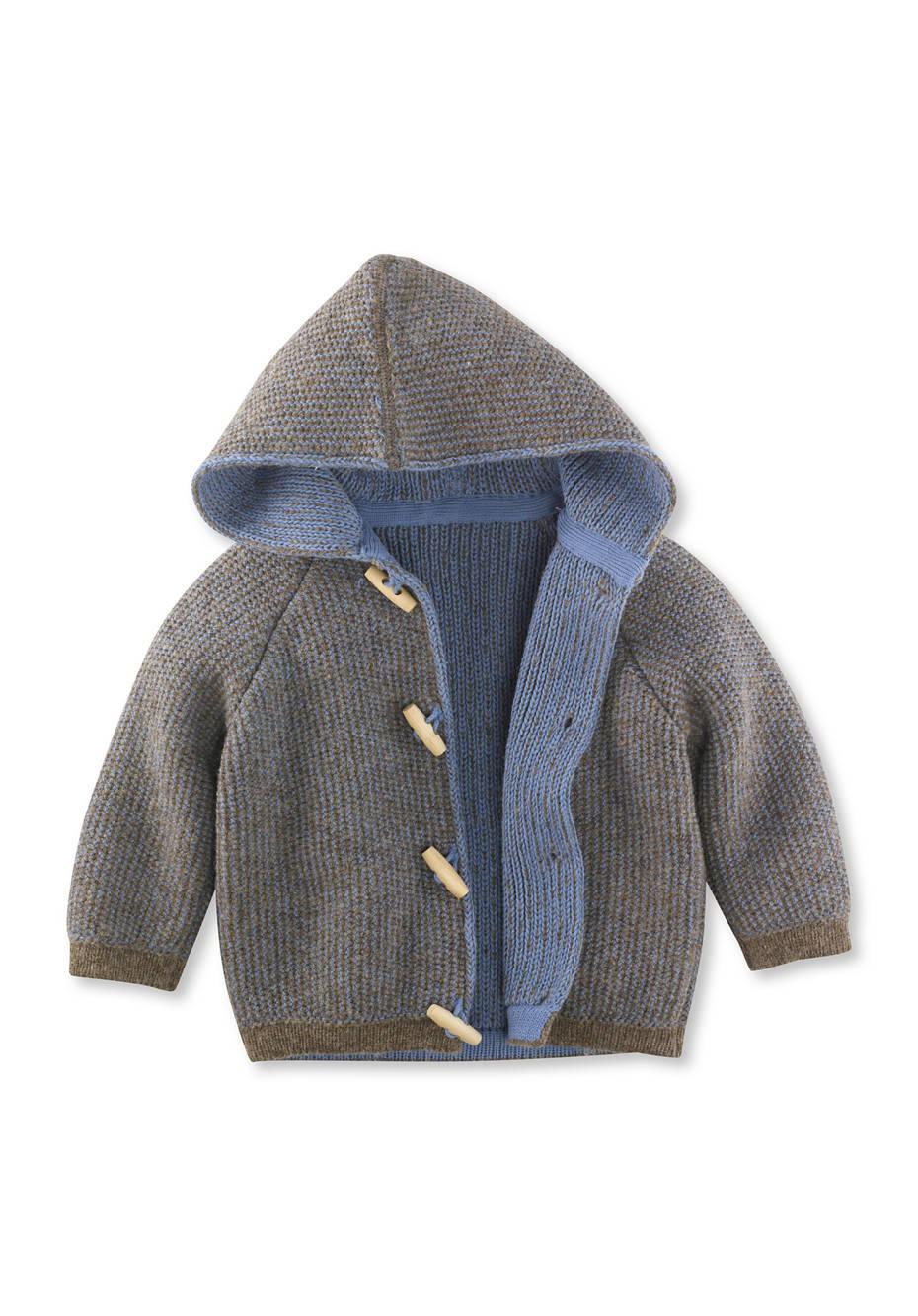 Strickjacke aus Schurwolle und Baumwolle