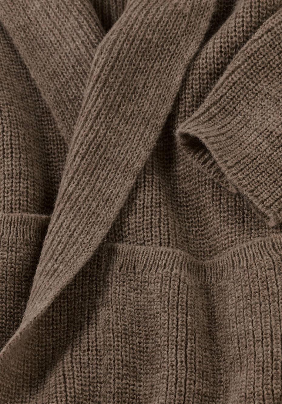 Strickjacke aus reinem Alpaka