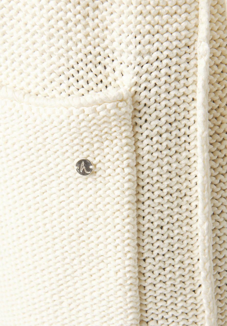 Strickmantel aus reiner Bio-Baumwolle