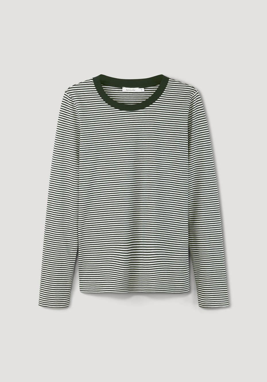 Striped shirt made of pure organic cotton