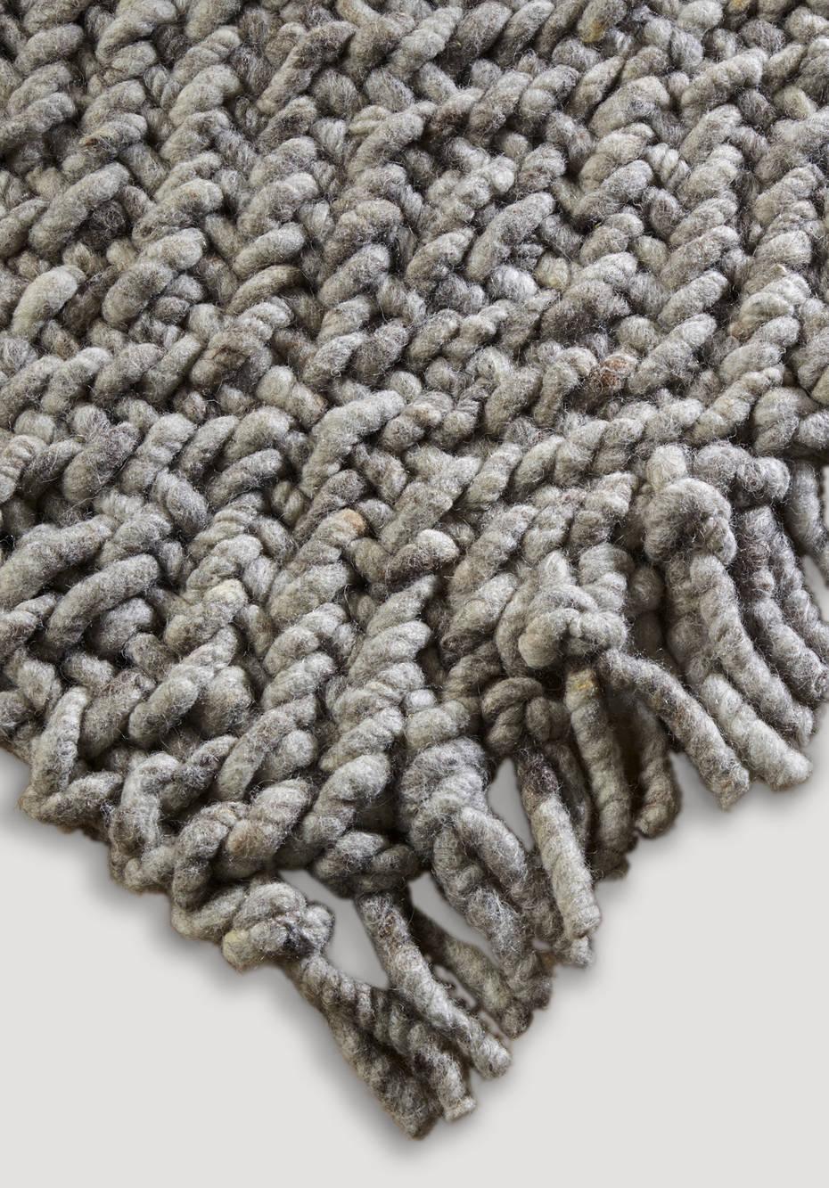 Struktur-Teppich aur reiner Schurwolle