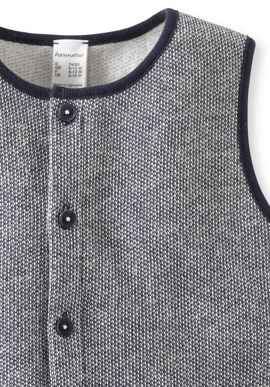 Sweat Strampler aus reiner Bio-Baumwolle