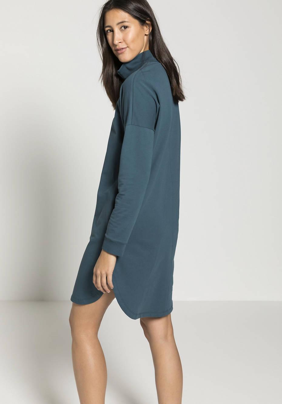 Sweat dress made of organic cotton with kapok