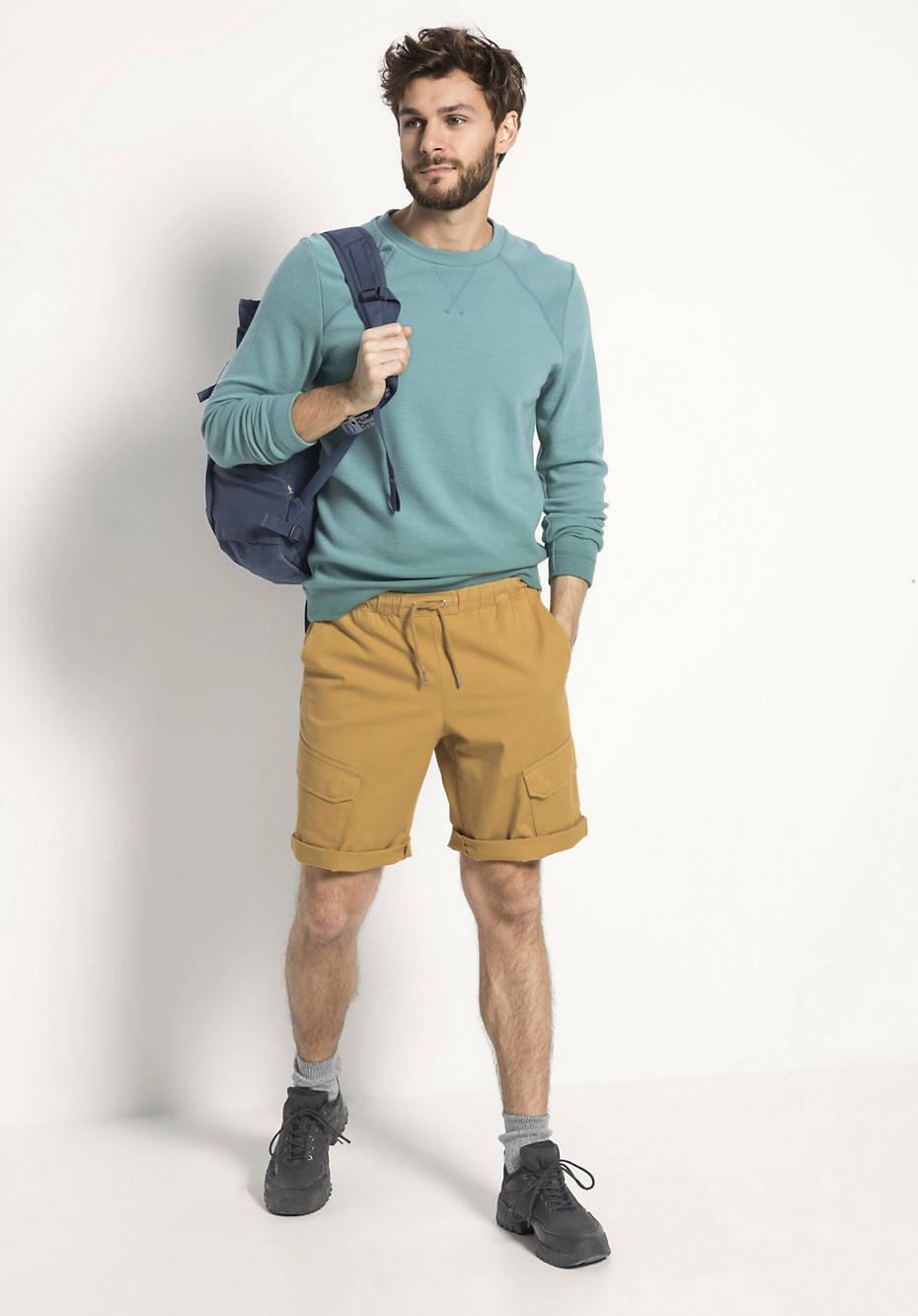 Sweatshirt aus Bio-Baumwolle mit Bio-Merinowolle