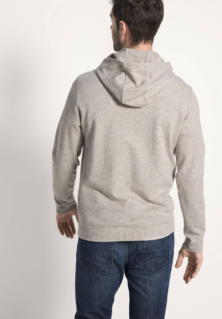 Sweatshirt aus Bio-Baumwolle mit Yakwolle