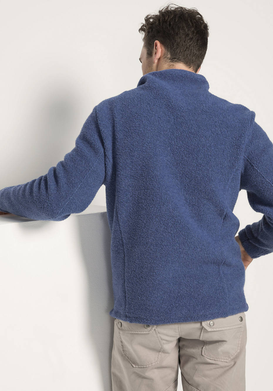 Sweatshirt für Ihn aus Schurwolle und Bio-Baumwolle