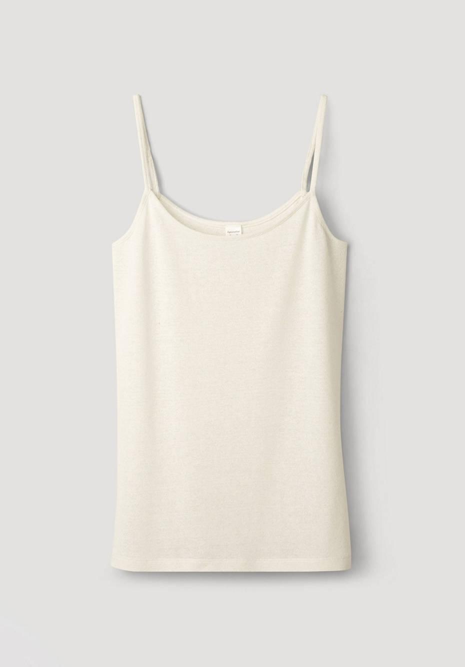 Tank shirt made from pure organic silk