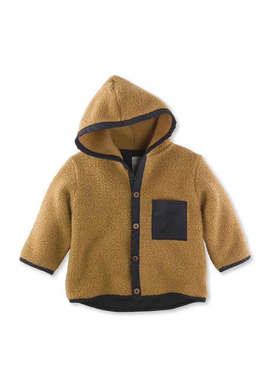 Teddy-Jacke aus Merinowolle mit Bio-Baumwolle