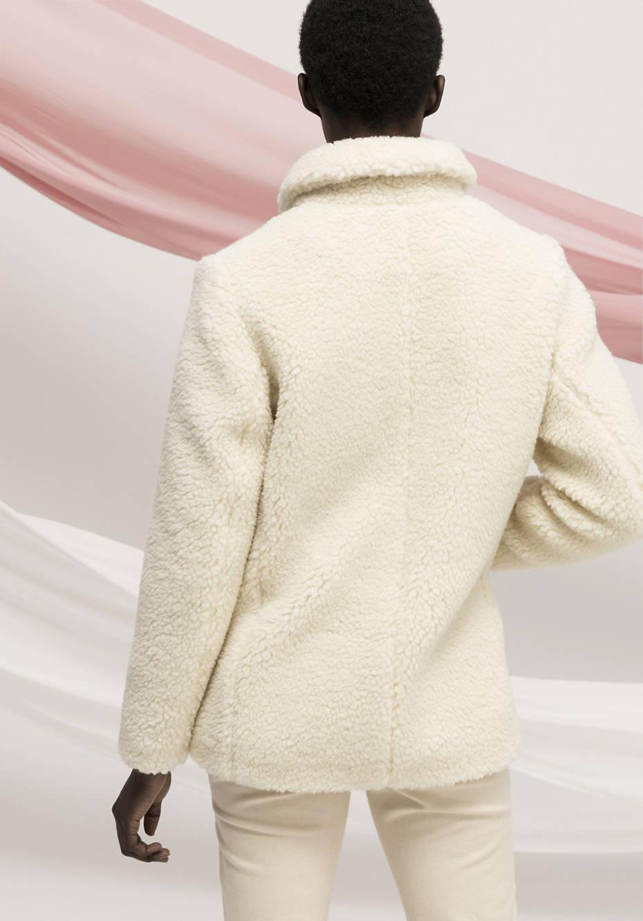 Teddy Jacke aus Schurwolle mit Bio-Baumwolle