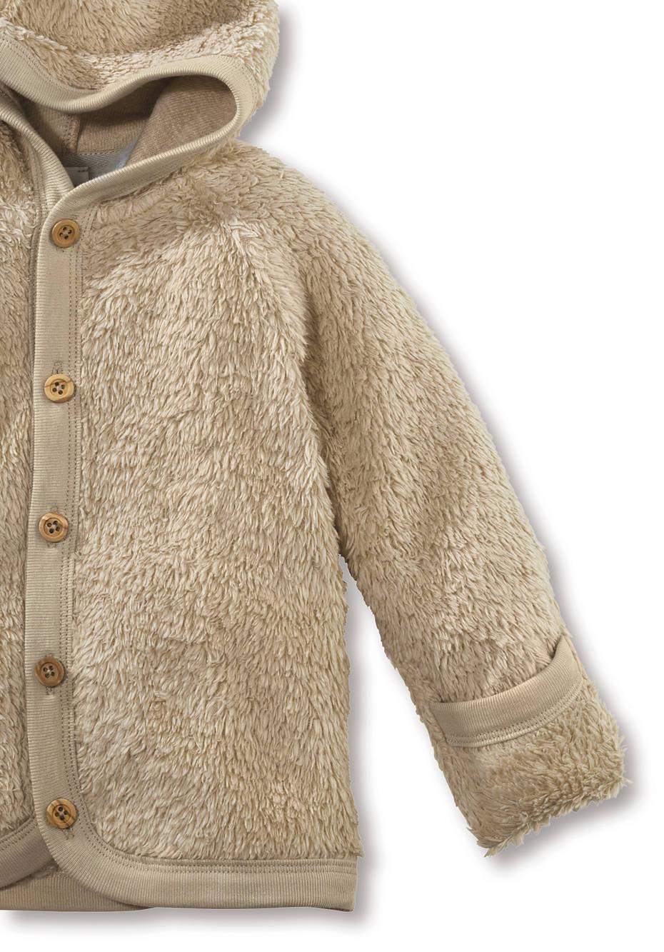 Teddy-Jacke aus reiner Bio-Baumwolle