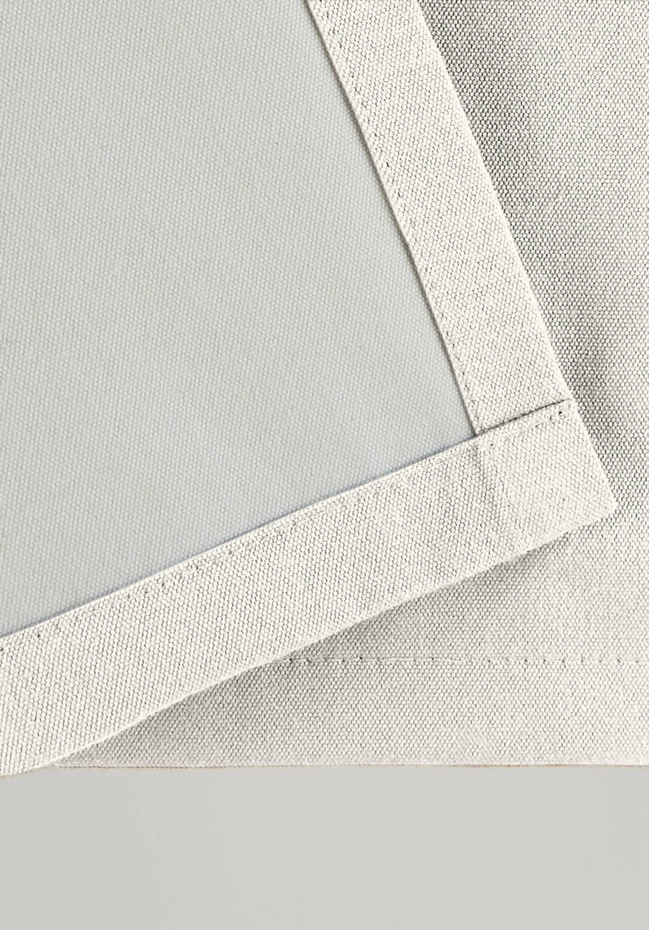 Thermo-Vorhang Neveres mit Ösen aus reiner Bio-Baumwolle