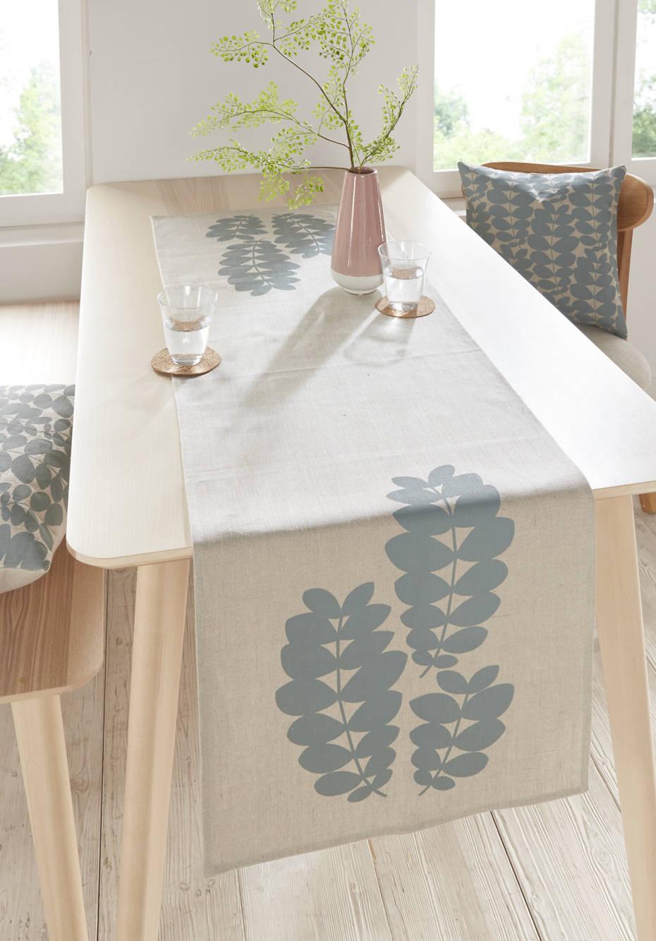 Tischläufer Follini aus reinem Hessen-Leinen